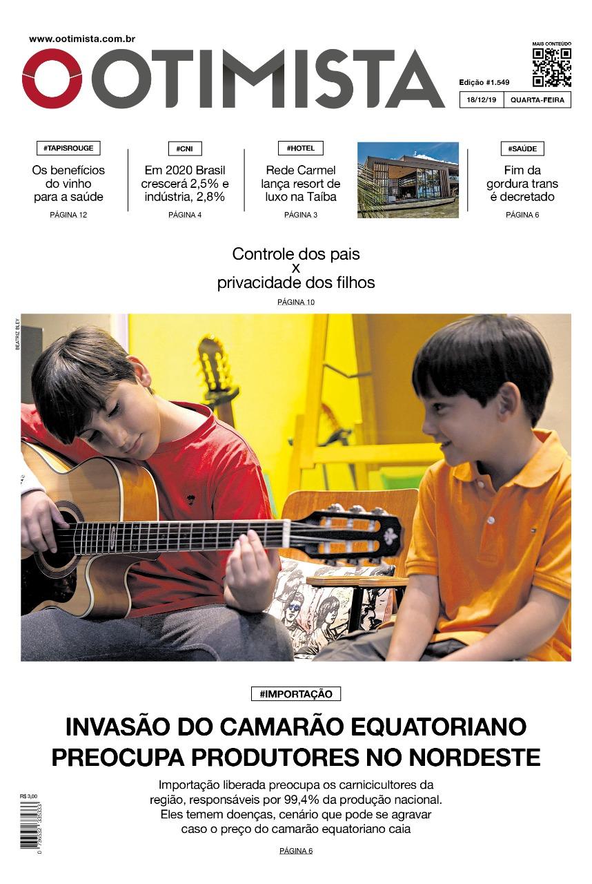 O Otimista - Edição impressa de 18/12/2019