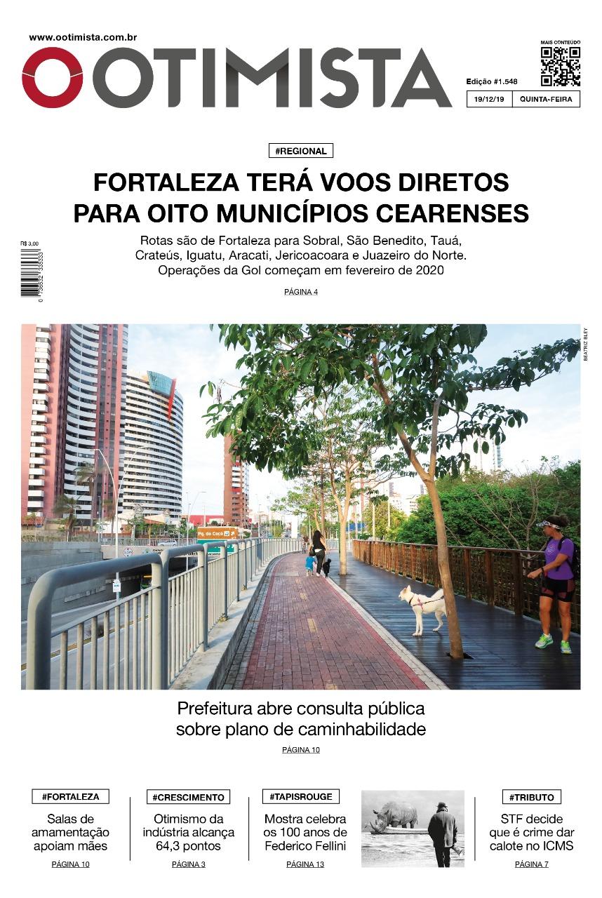 O Otimista - Edição impressa de 19/12/2019
