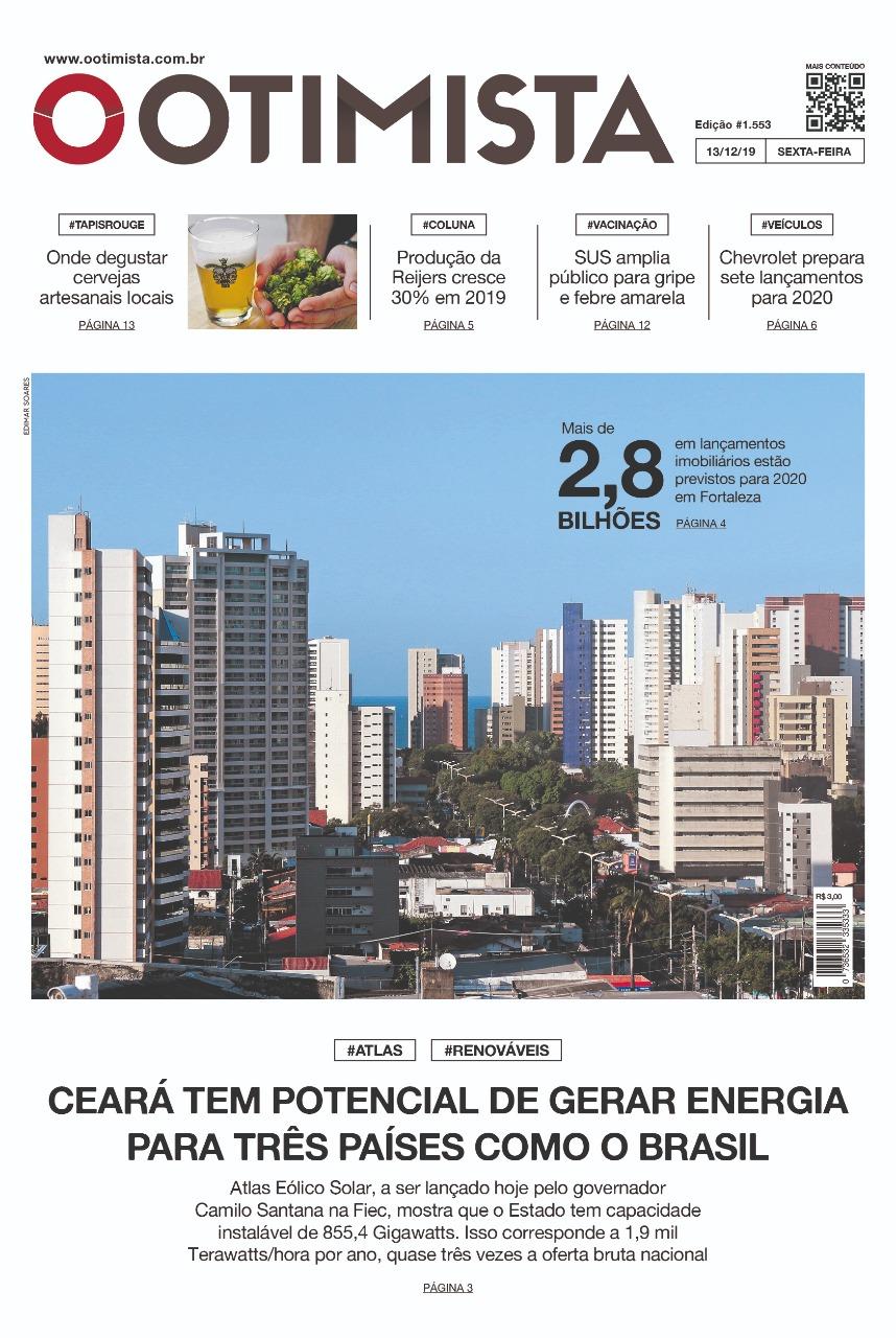 O Otimista - Edição impressa de 13/12/2019