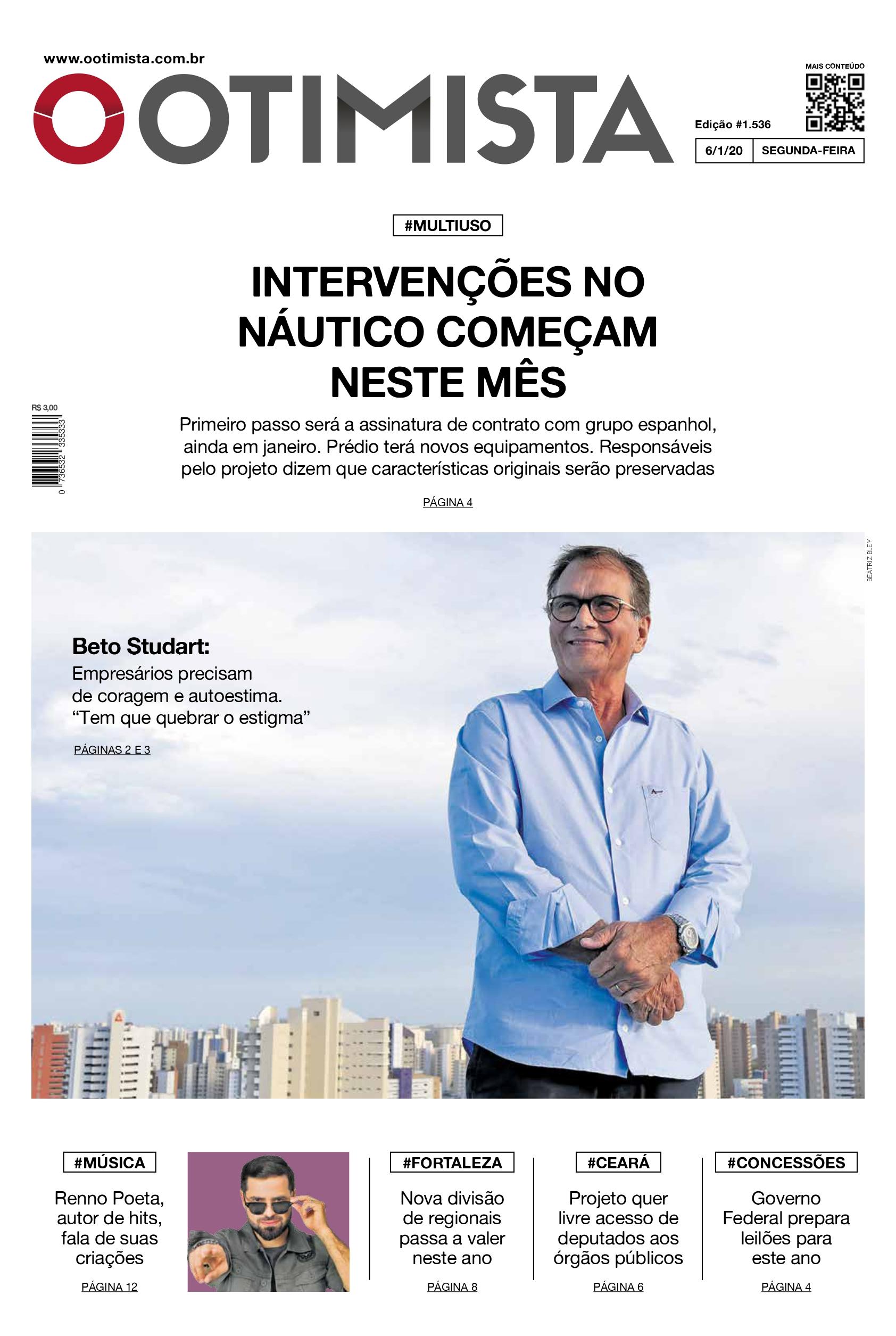 O Otimista - Edição impressa de 6/1/2020