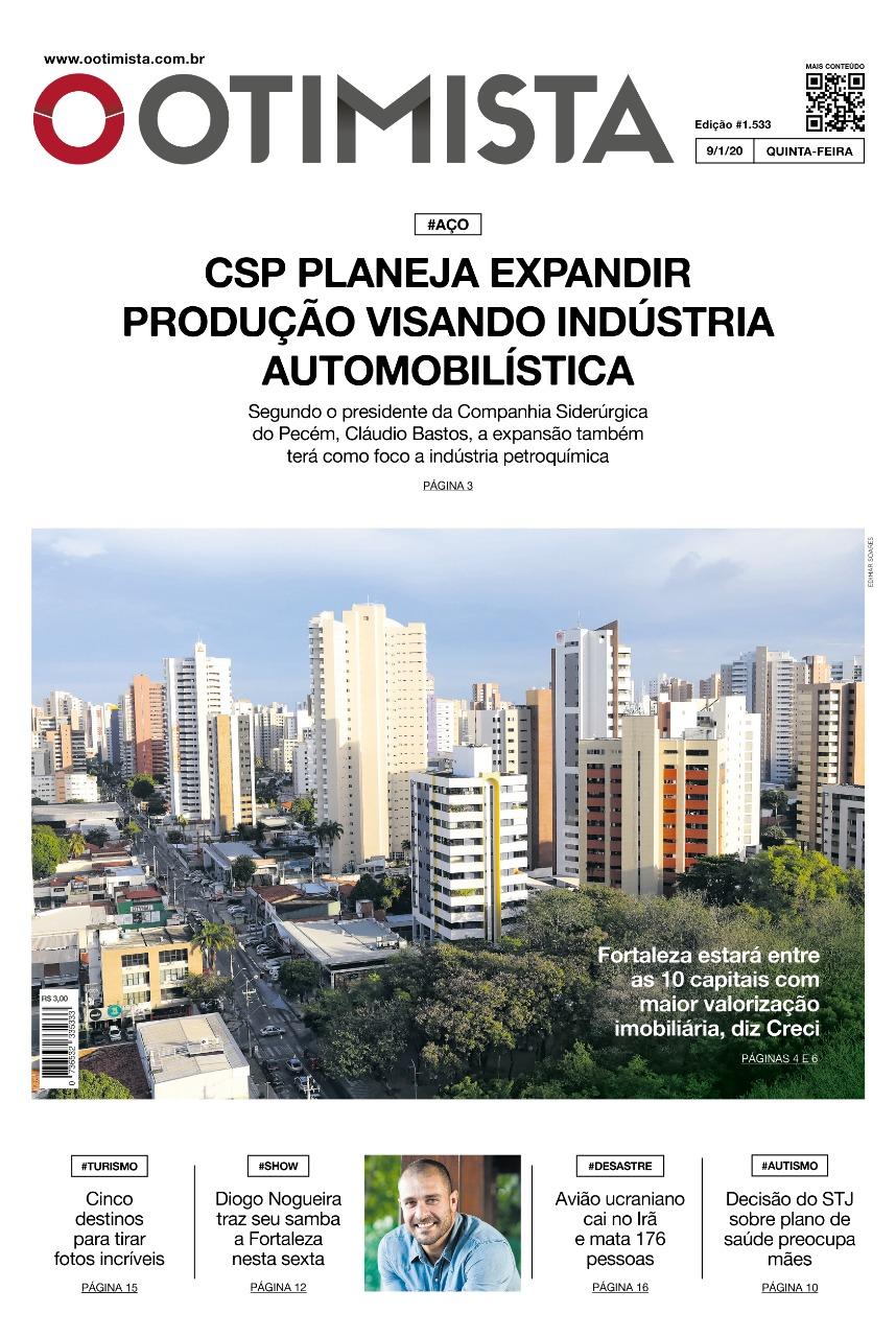 O Otimista - Edição impressa de 9/1/2020