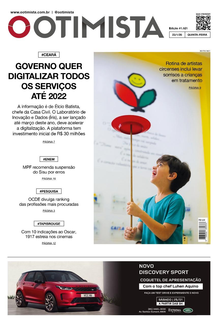 O Otimista - Edição impressa de 23/1/2020
