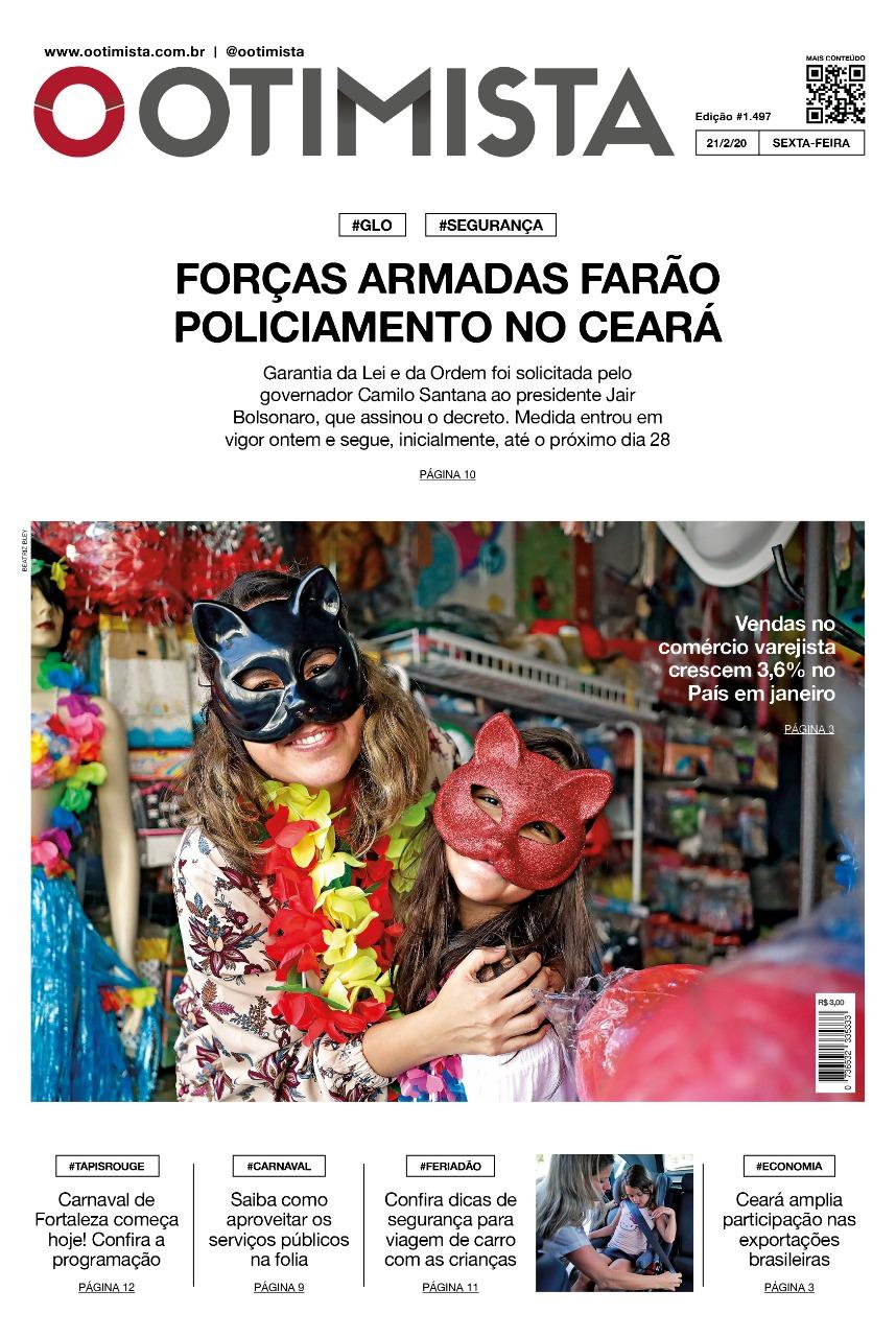 O Otimista - Edição impressa de 21/02/2020