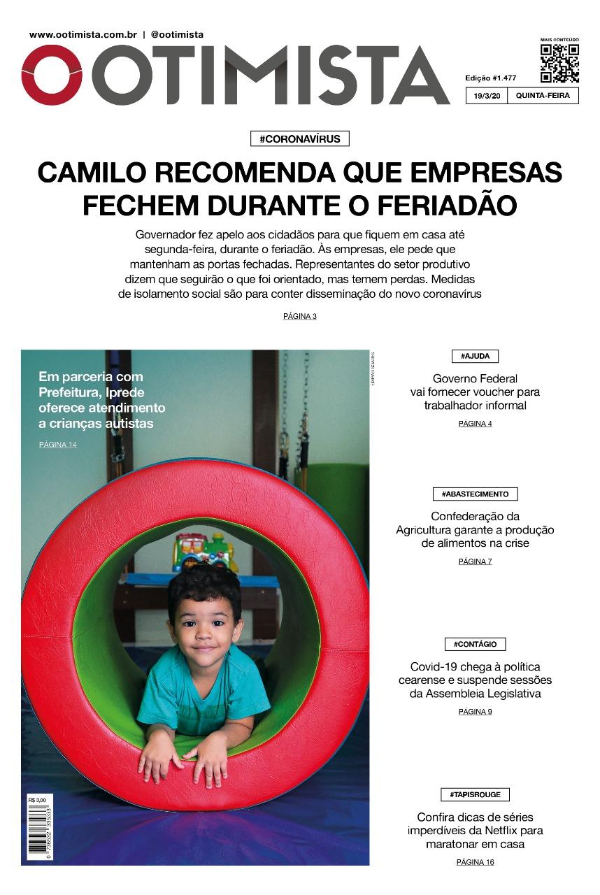 O Otimista - Edição impressa de 19/03/2020