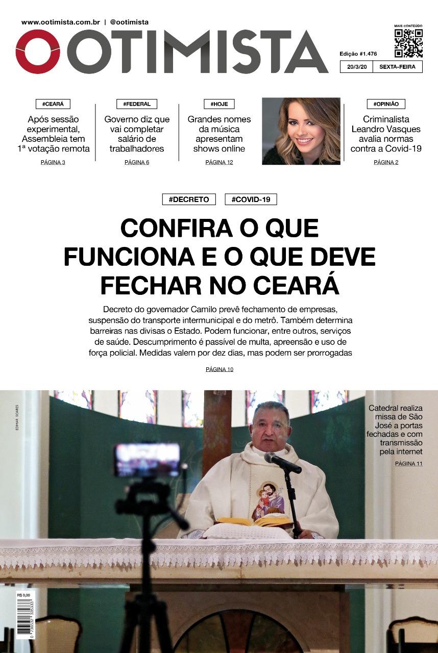 O Otimista - Edição impressa de 20/03/2020