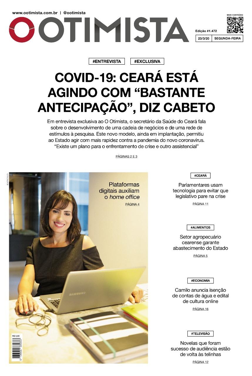 O Otimista - edição impressa de 23/3/2020