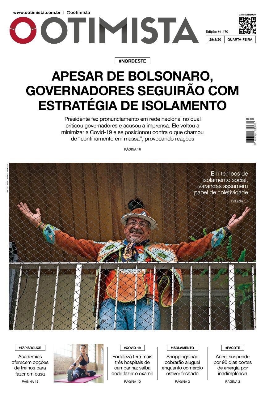 O Otimista - Edição impressa de 25/03/2020