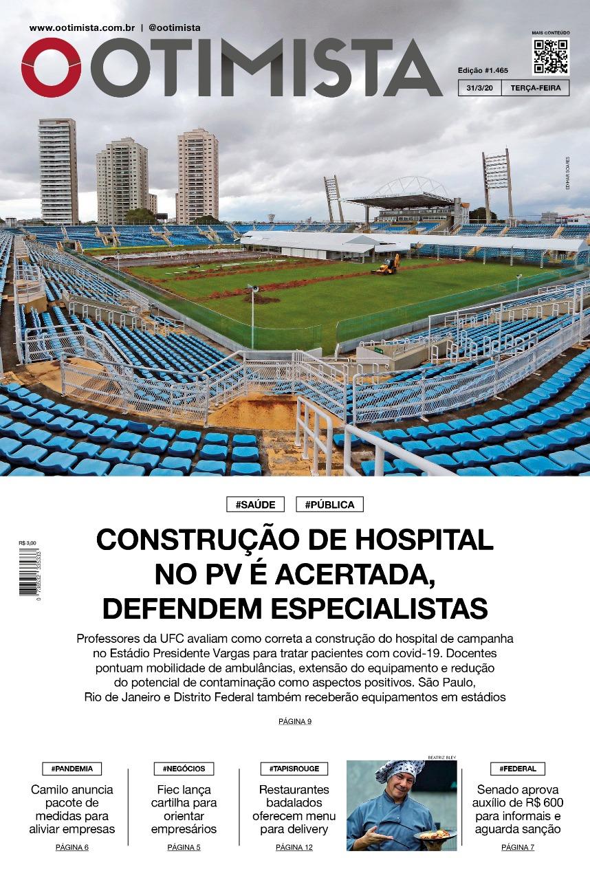 O Otimista - Edição impressa de 31/03/2020