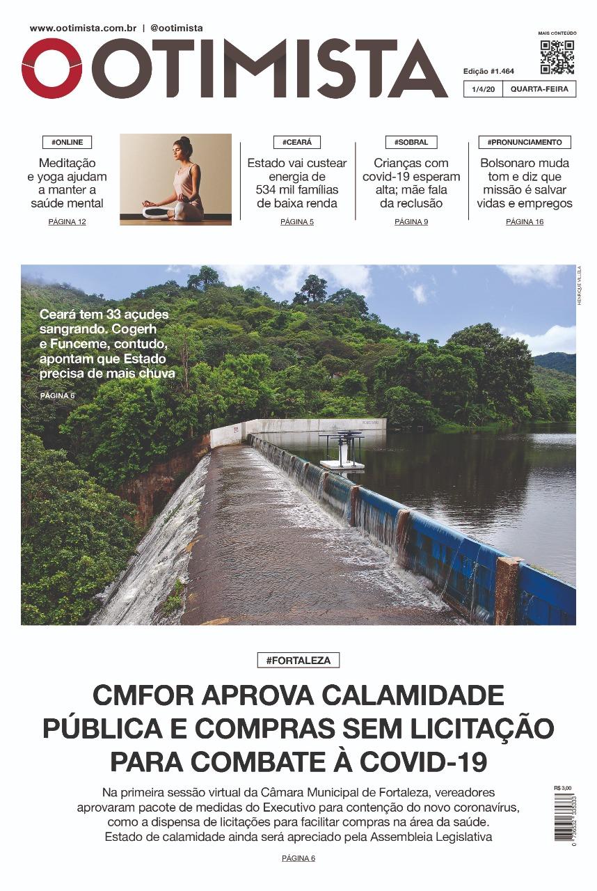 O Otimista - Edição impressa 01/04/2020