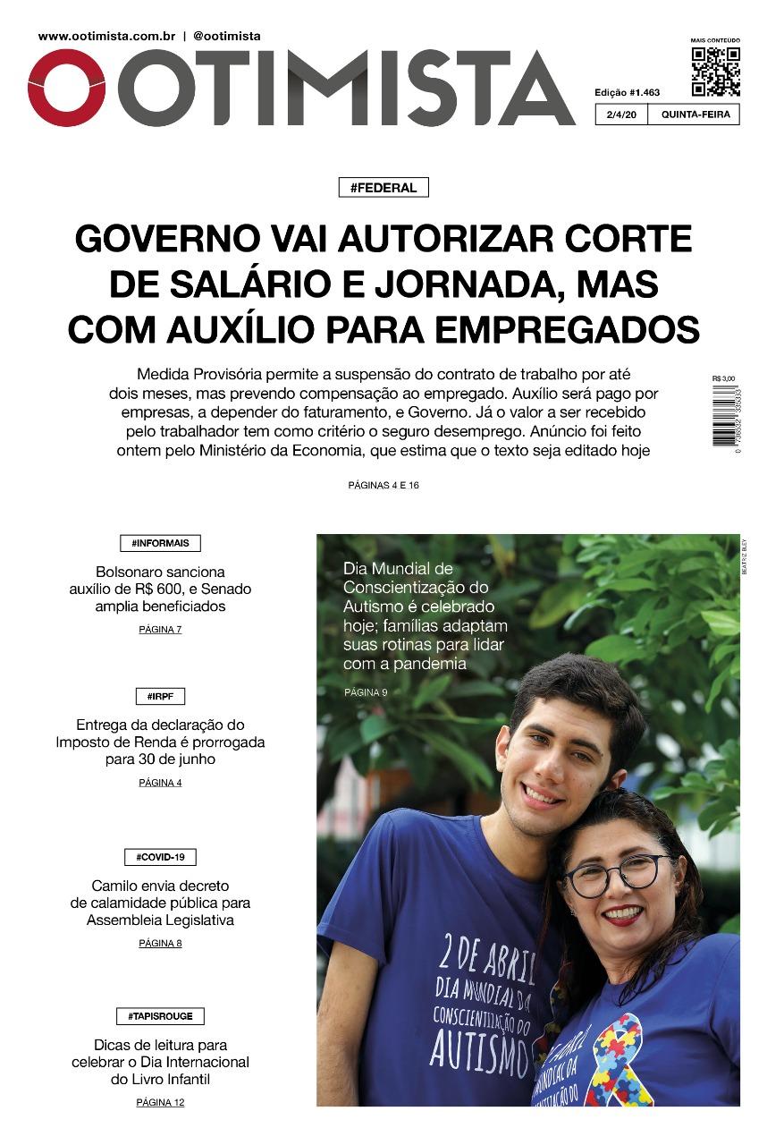 O Otimista - Edição impressa 02/04/2020