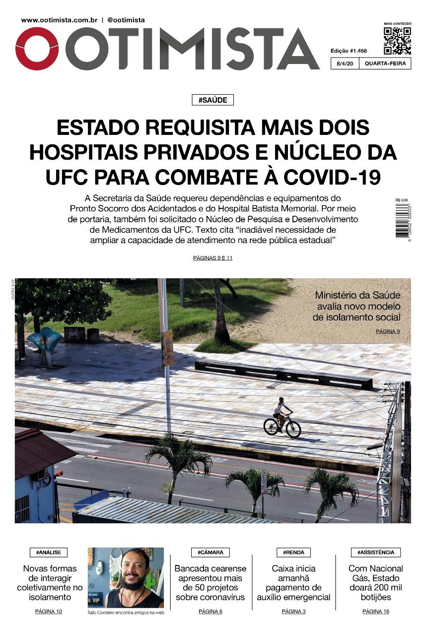 O Otimista - Edição impressa de 08/04/2020