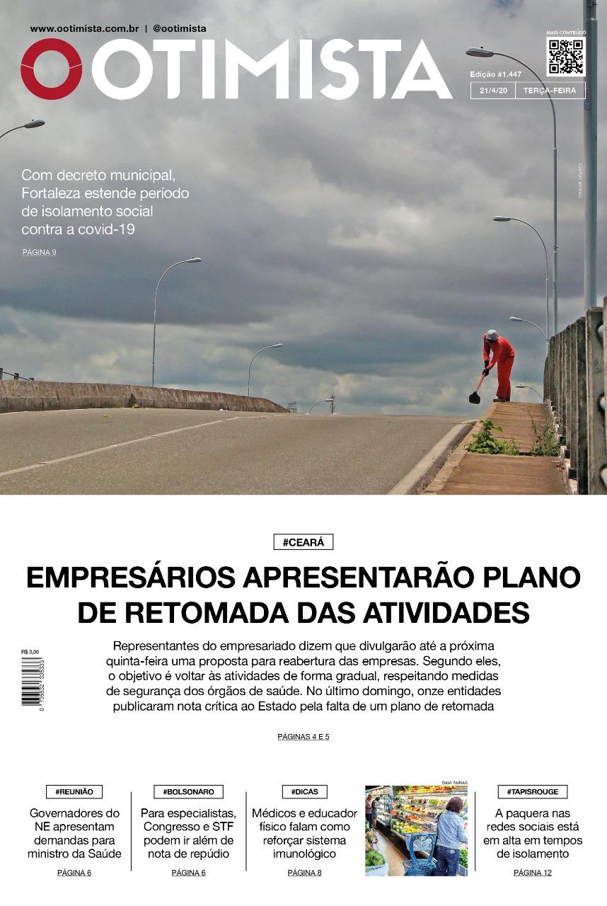 O Otimista - Edição impressa de 21/04/2020
