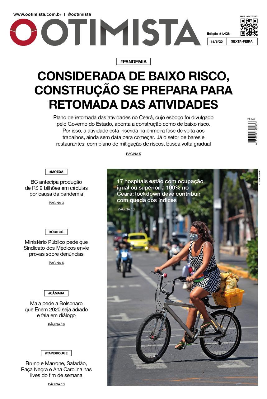 O Otimista - Edição impressa de 15/05/2020