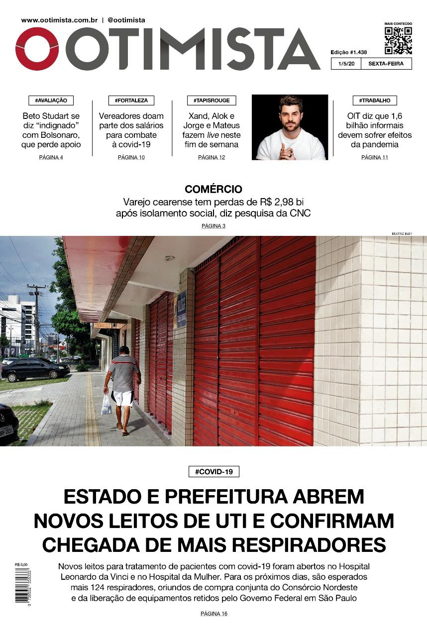 O Otimista - Edição impressa de 01/05/2020