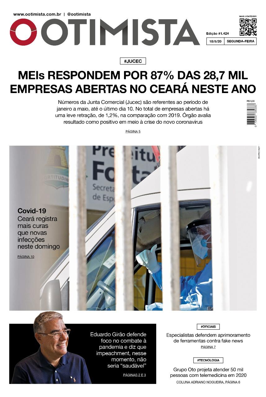 O Otimista - edição impressa de 18/05/2020