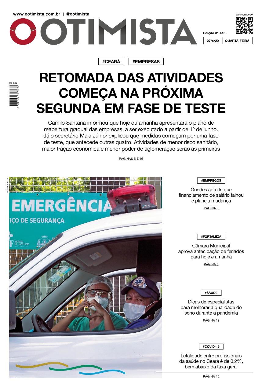 O Otimista - Edição impressa de 27/05/2020