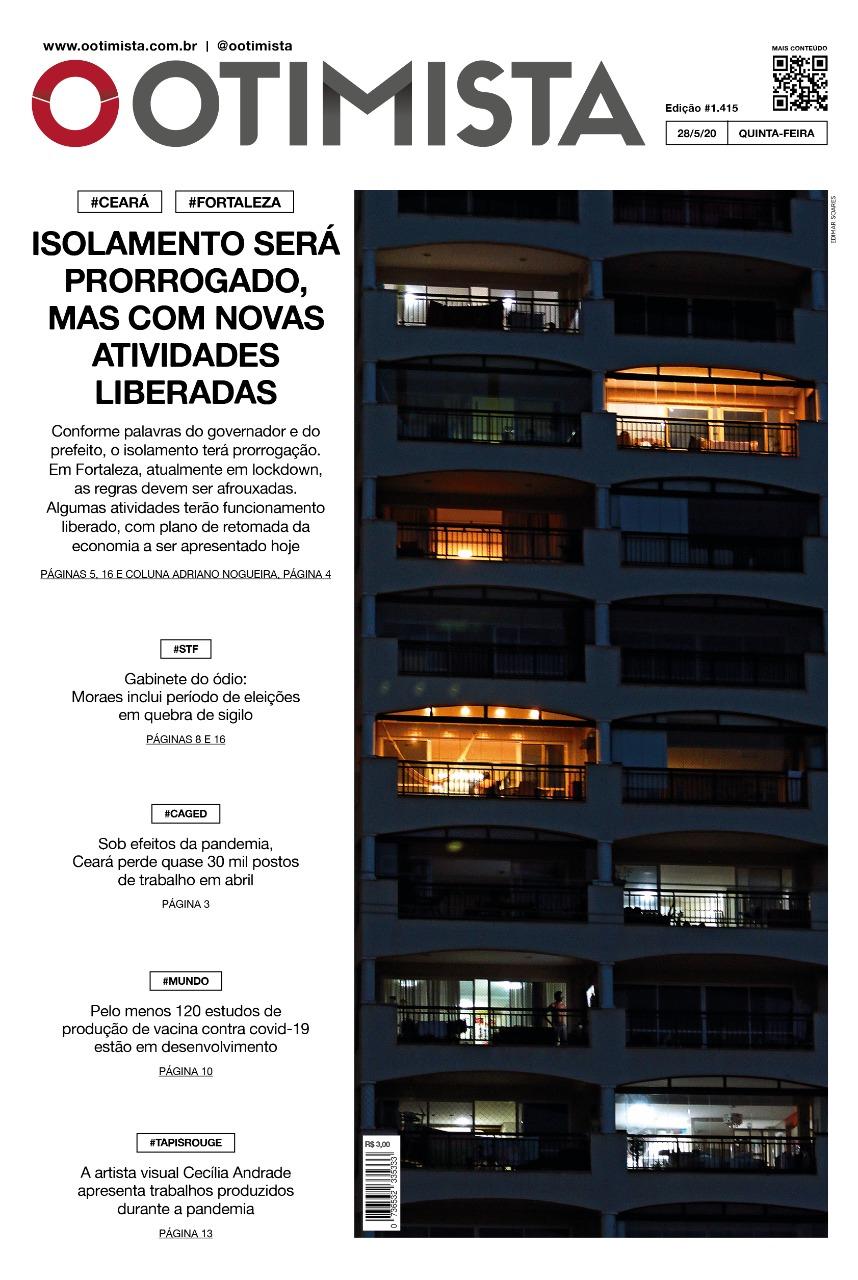 O Otimista - Edição impressa de 28/05/2020
