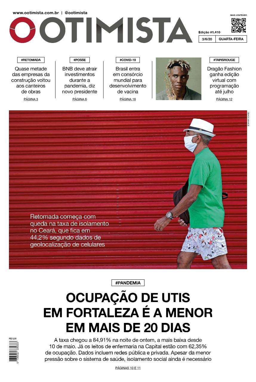 O Otimista - Edição impressa de 03/06/2020