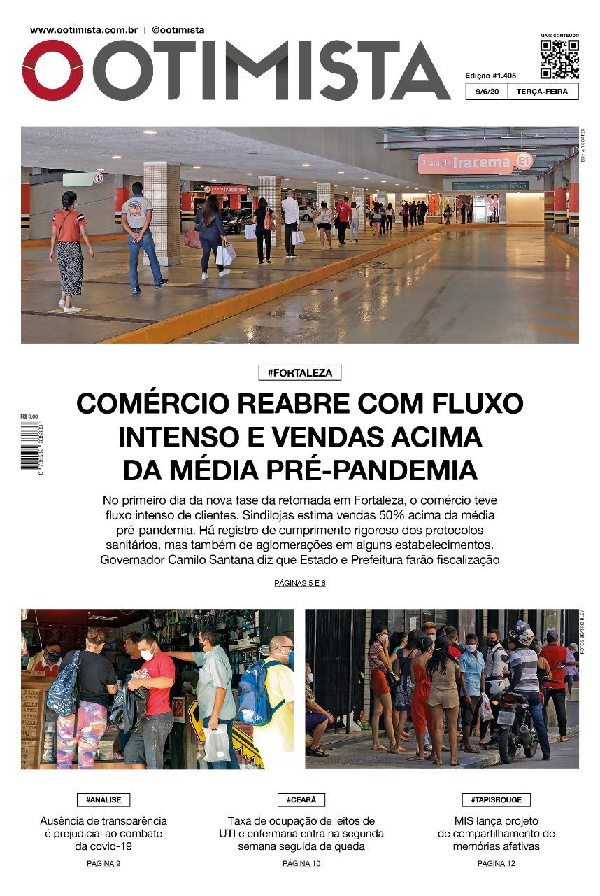 O Otimista - Edição impressa de 09/06/2020