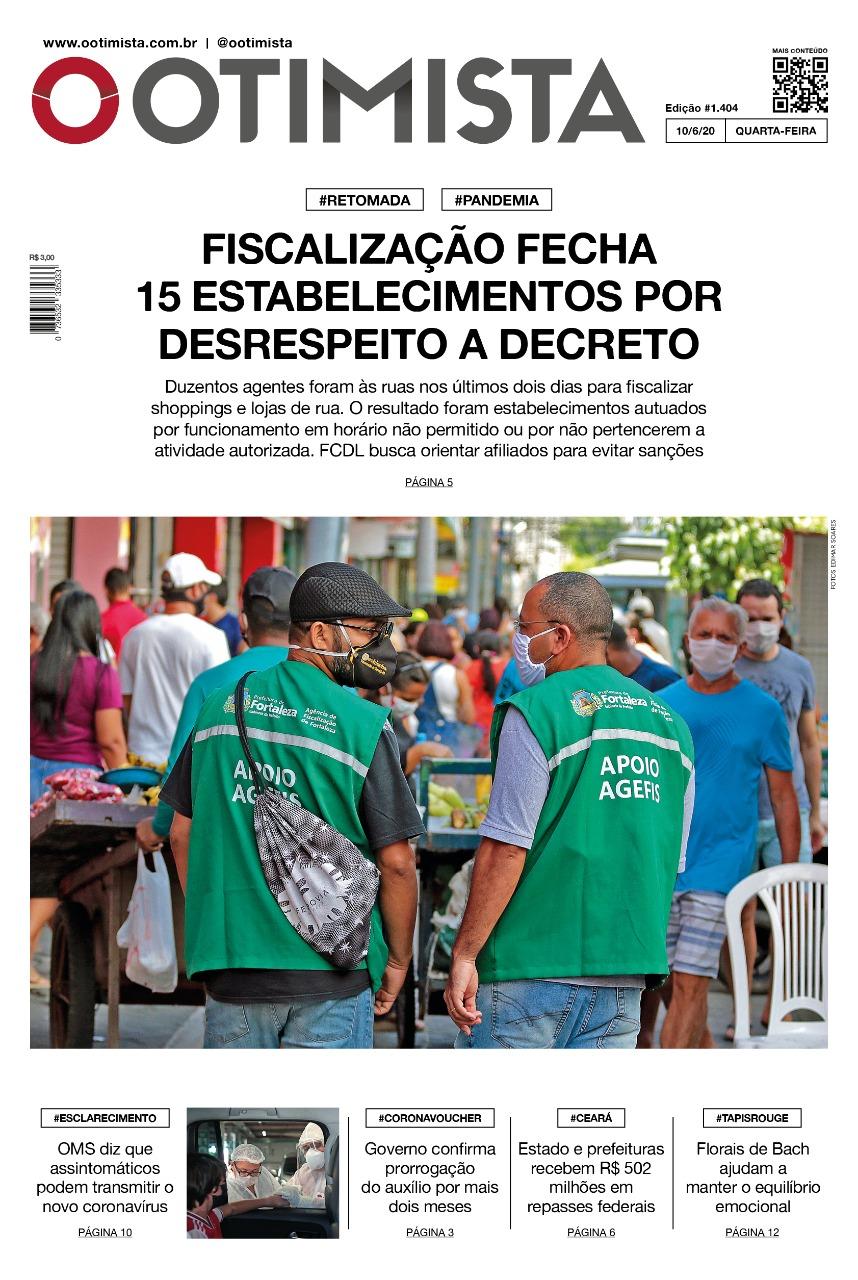 O Otimista - Edição impressa de 10/06/2020
