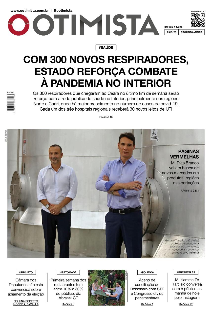 O Otimista - edição impressa de 29/6/2020