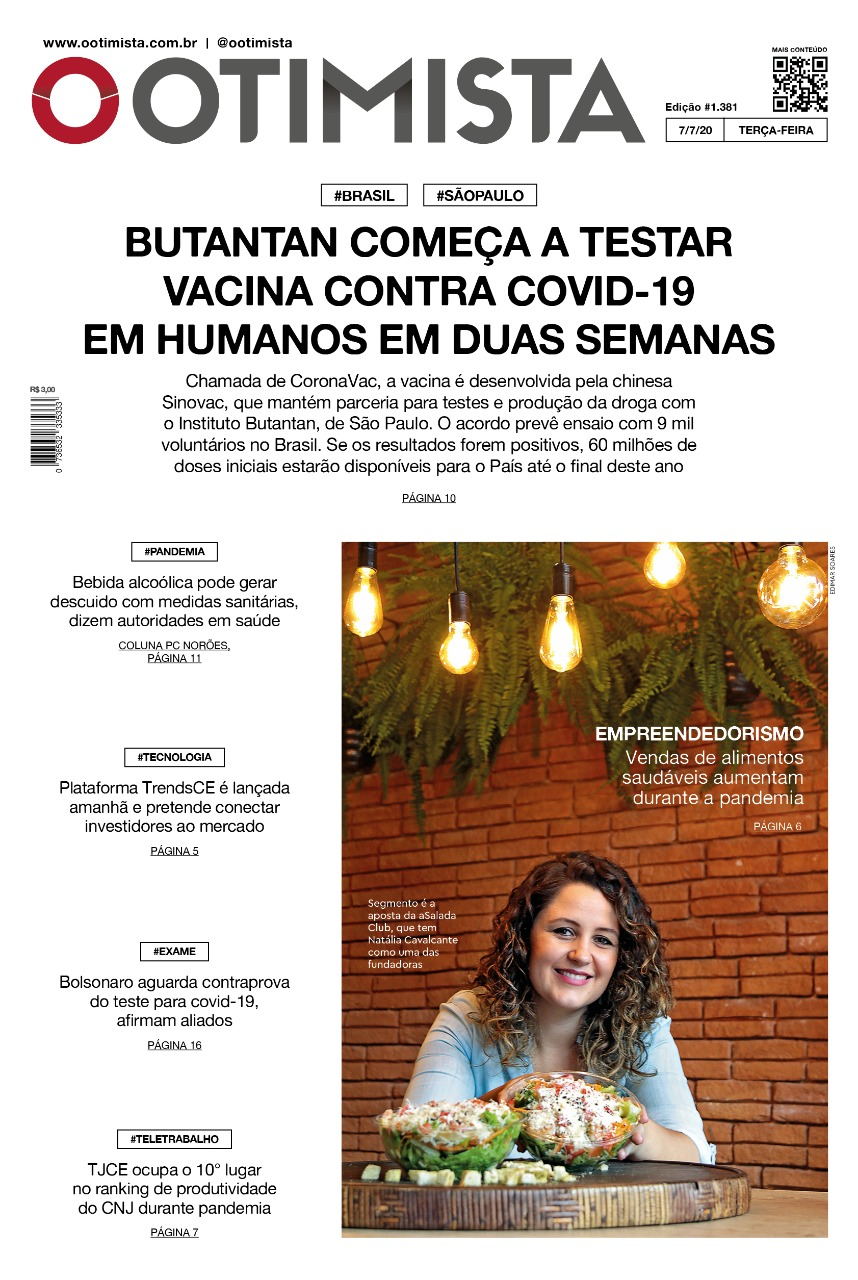 O Otimista - Edição impressa de 07/07/2020