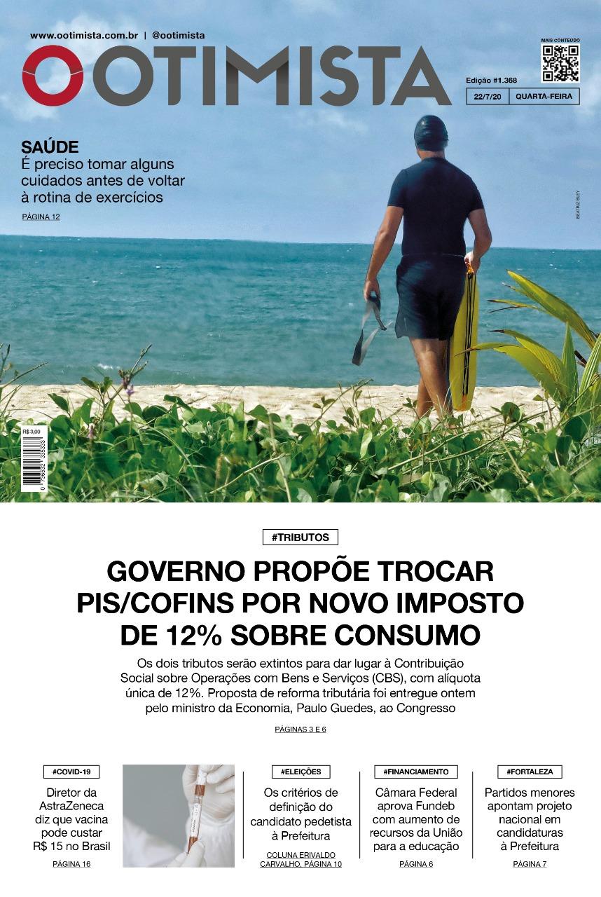 O Otimista - Edição impressa de 22/07/2020