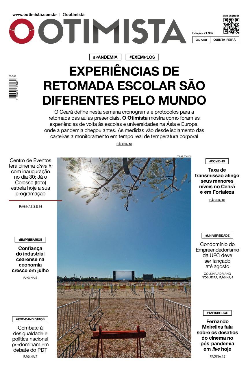O Otimista - Edição impressa de 23/07/2020