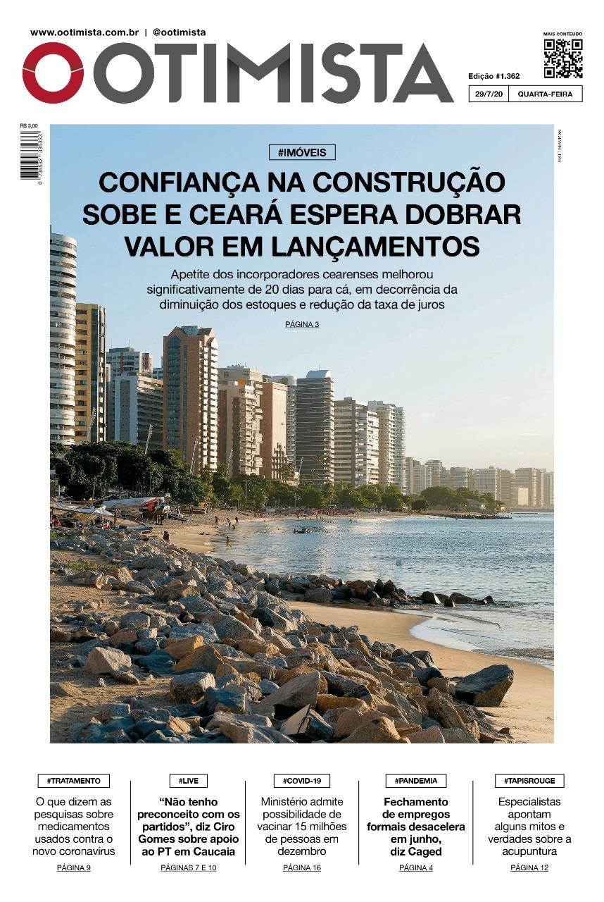 O Otimista - Edição impressa de 29/07/2020