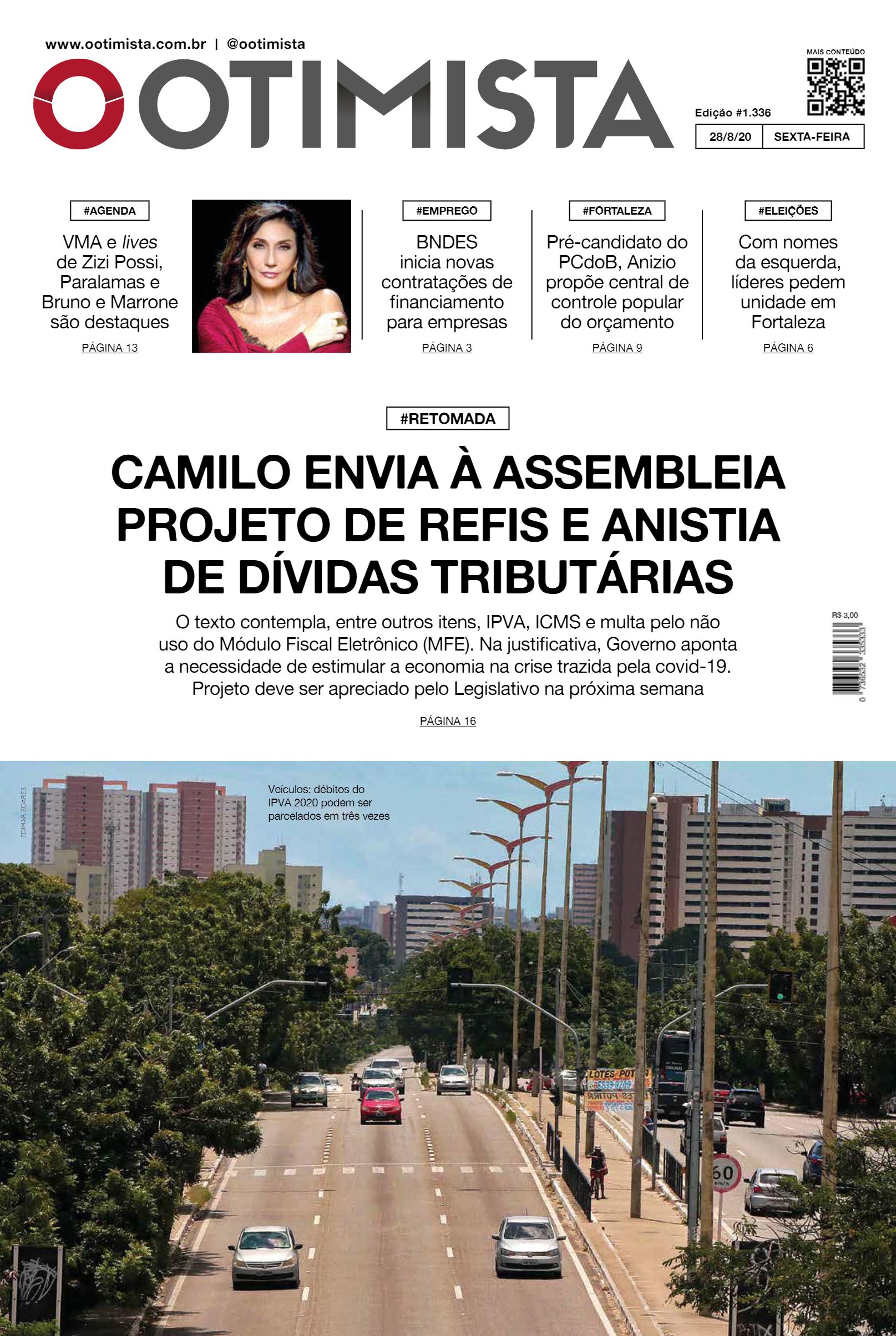 O Otimista - Edição impressa de 28/08/2020