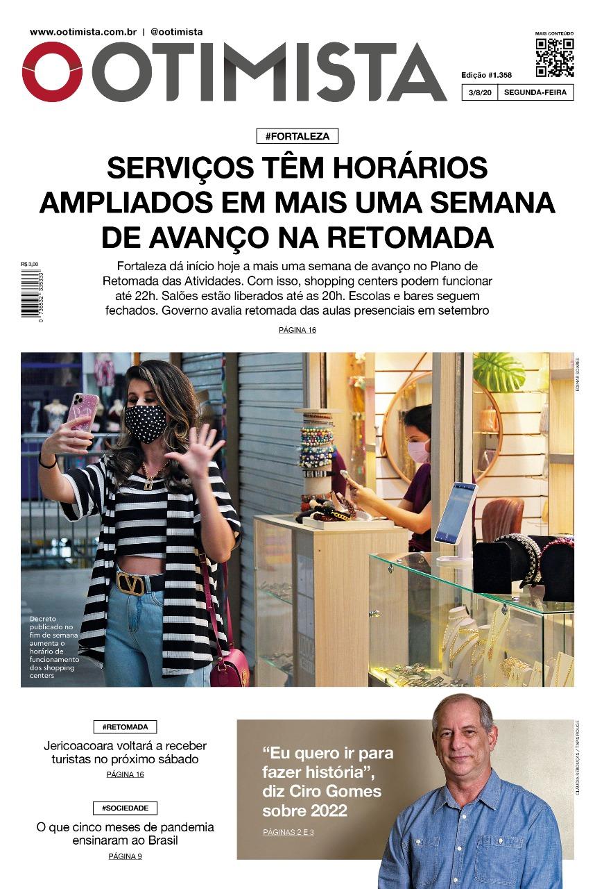 O Otimista - Edição impressa de 03/08/2020