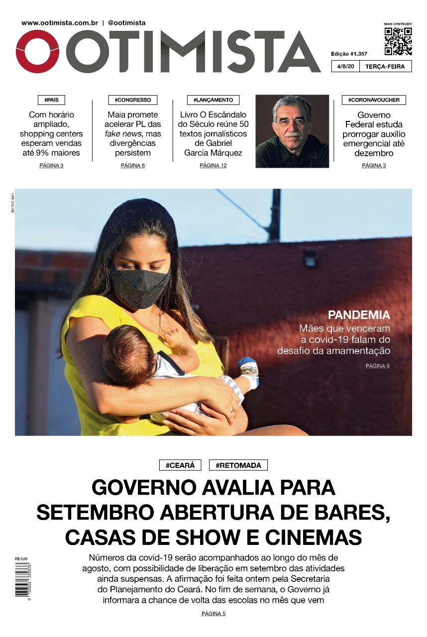 O Otimista - edição impressa de 04/08/2020