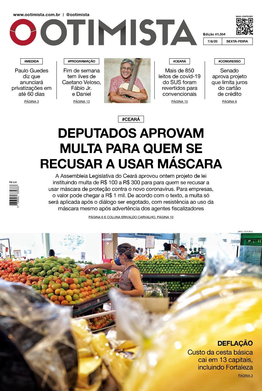 O Otimista - Edição impressa de 07/08/2020