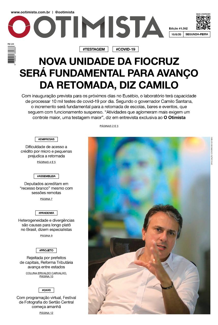 O Otimista - edição impressa de 10/8/2020