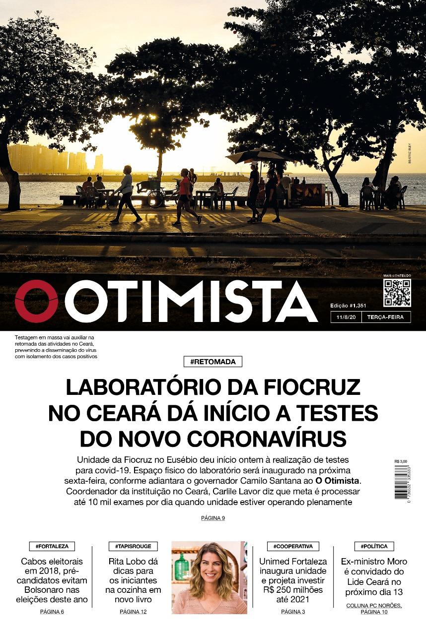 O Otimista - Edição impressa de 11/08/2020