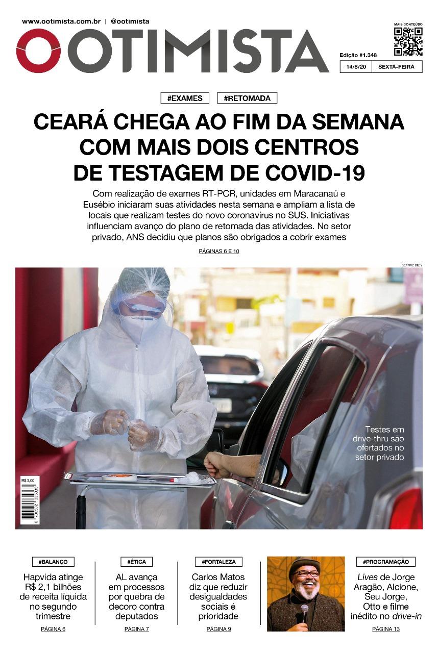 O Otimista - Edição impressa de 14/08/2020
