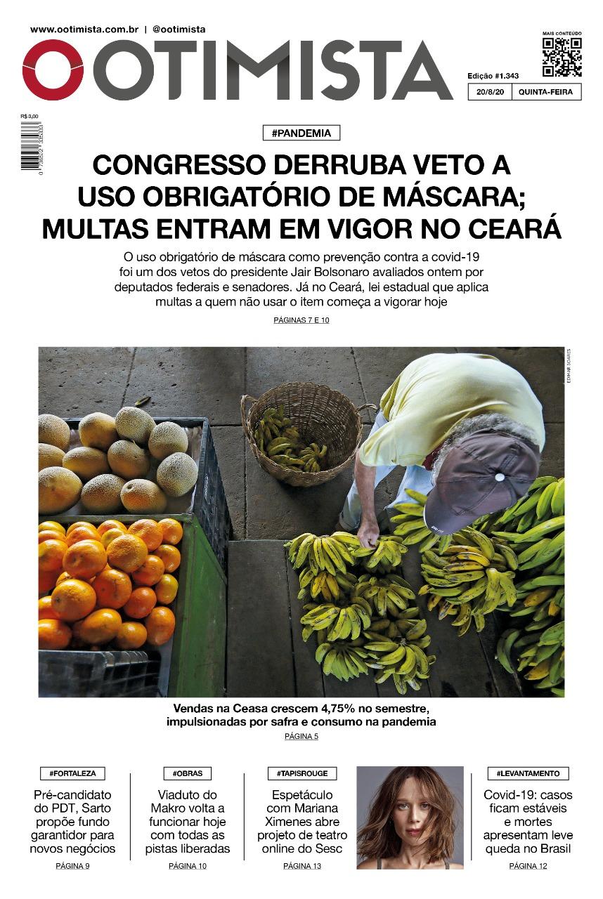 O Otimista - Edição impressa de 20/08/2020