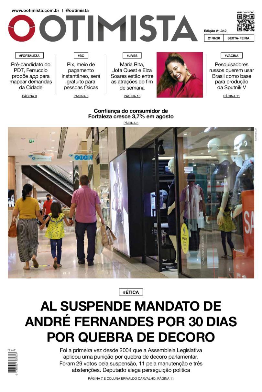 O Otimista - Edição impressa de 21/08/2020