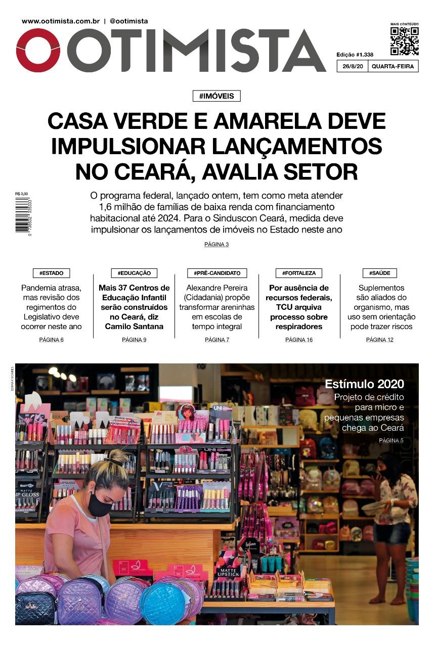 O Otimista - Edição impressa de 26/08/2020