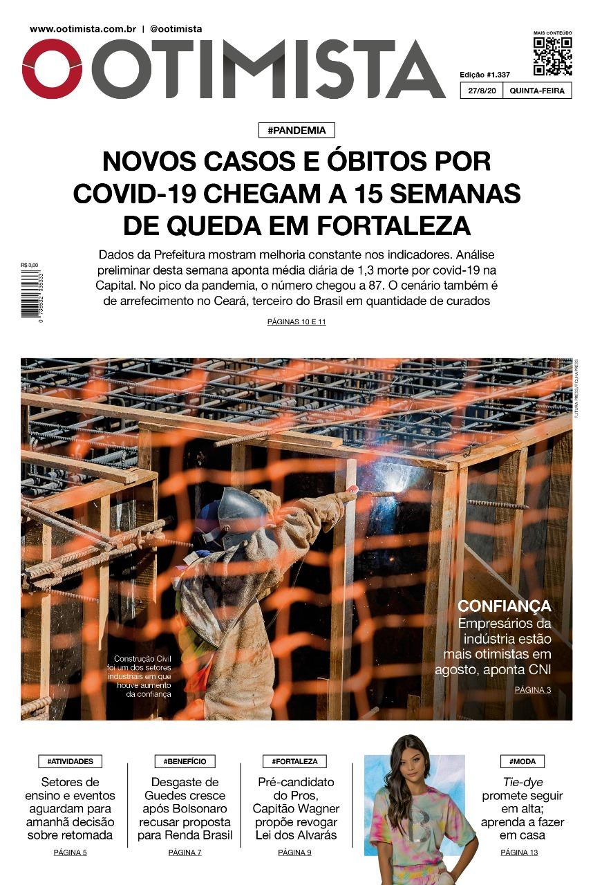 O Otimista - Edição impressa de 27/08/2020