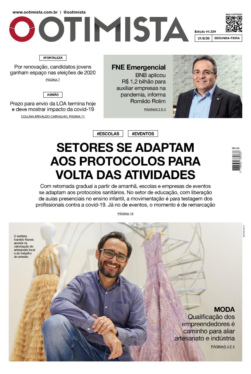 O Otimista – Edição impressa de 31/08/2020