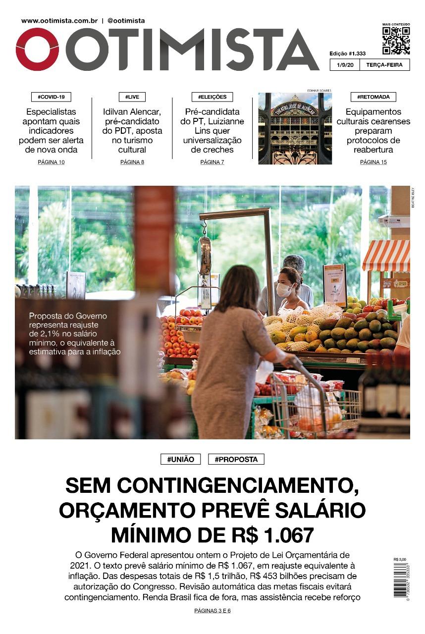 O Otimista - Edição impressa de 01/09/2020