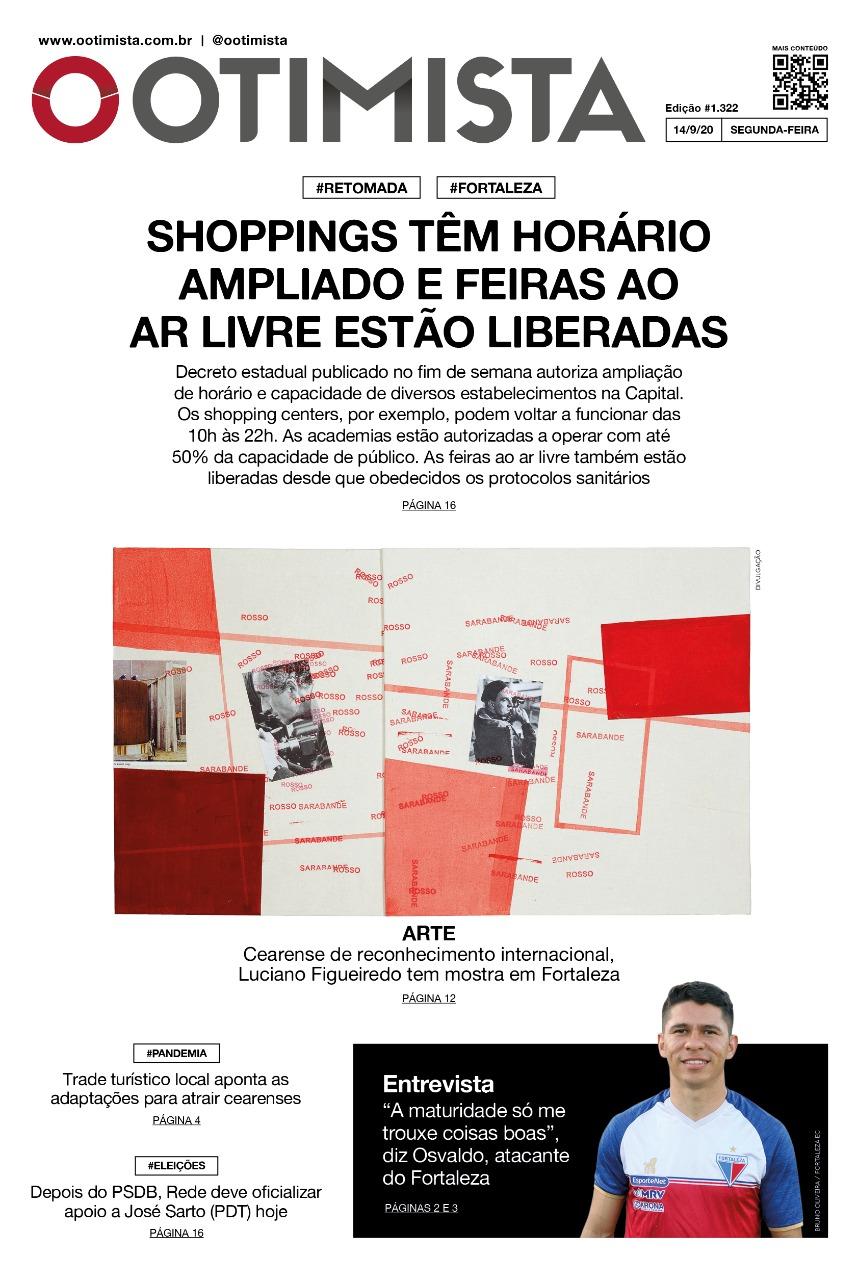 O Otimista - edição impressa de 14/9/2020