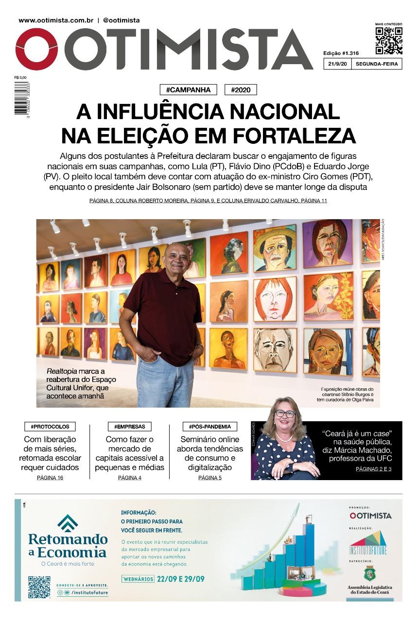 O Otimista - edição impressa de 21/9/2020