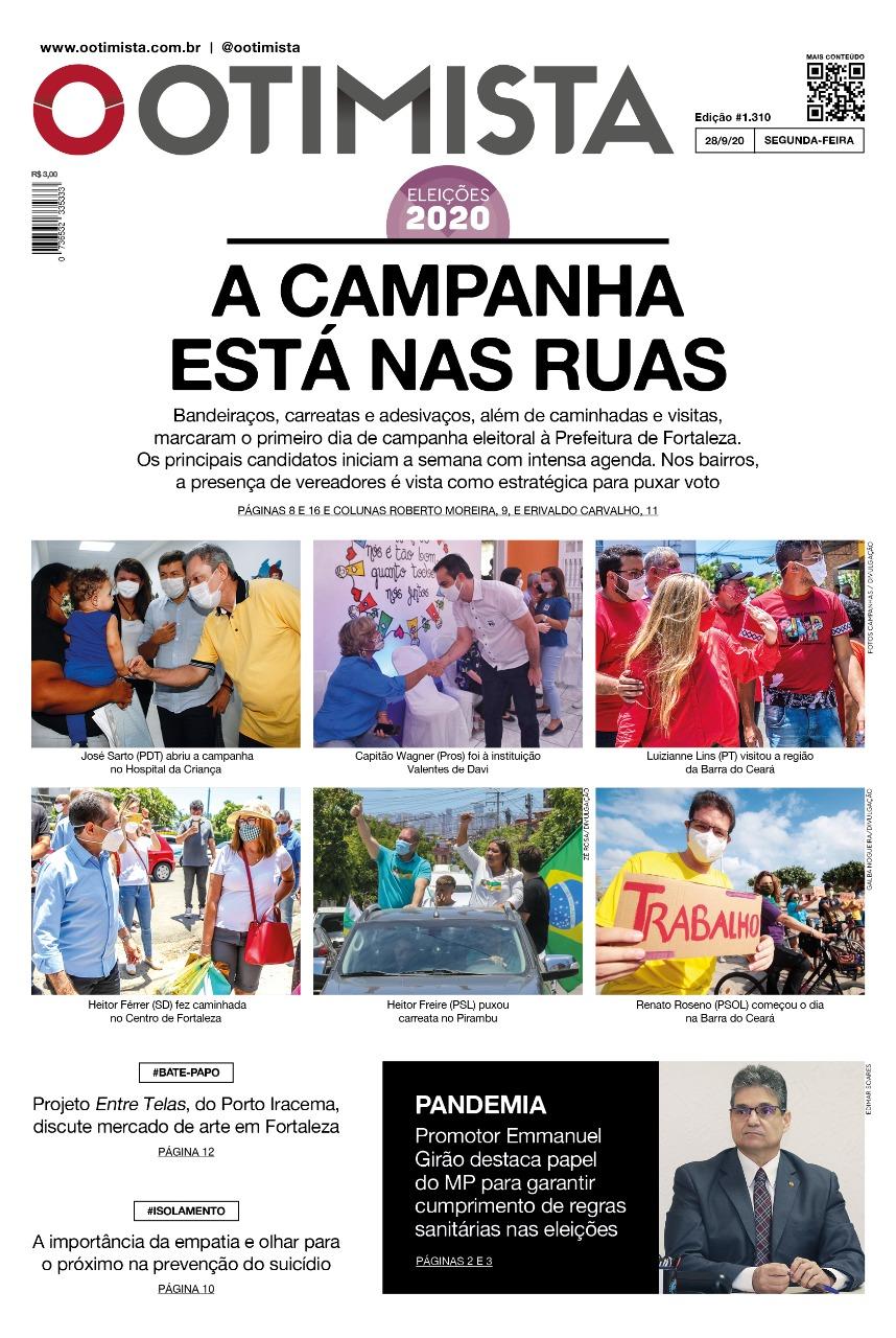 O Otimista - edição impressa de 28/9/2020