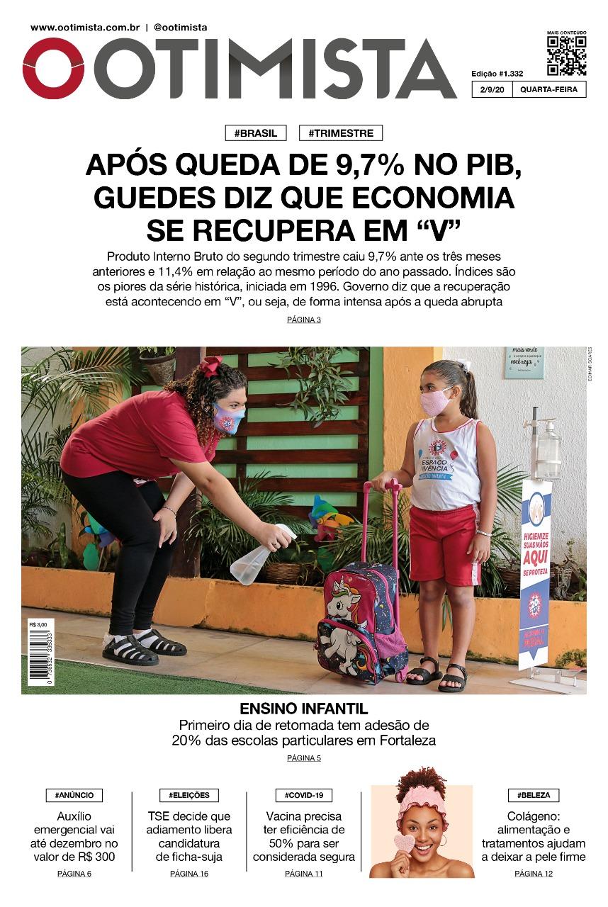 O Otimista - Edição impressa de 02/09/2020
