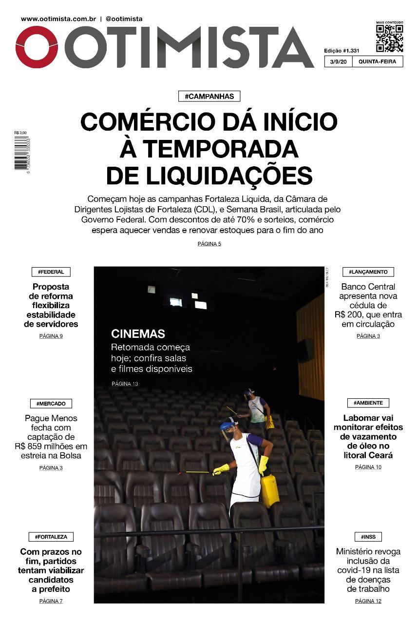 O Otimista - Edição impressa de 03/09/2020