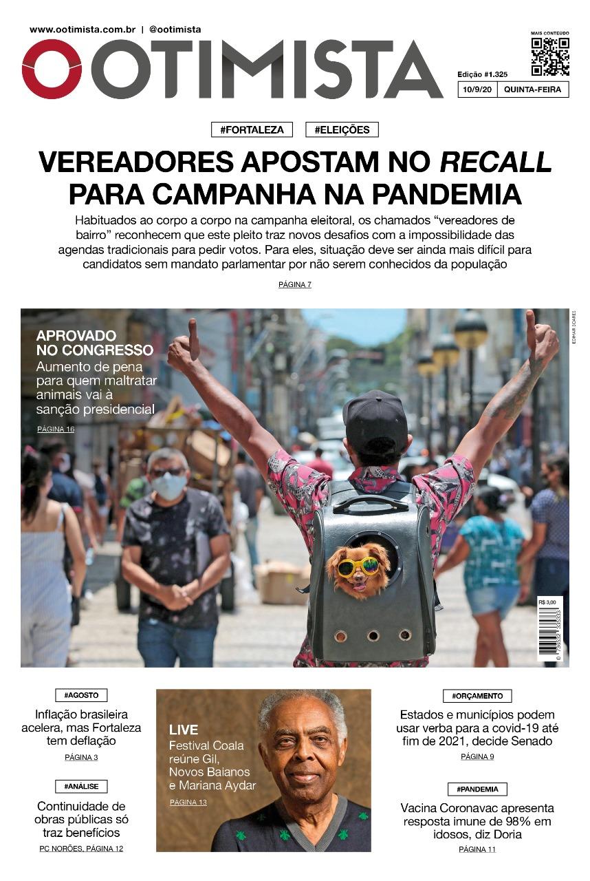 O Otimista - Edição impressa de 10/09/2020