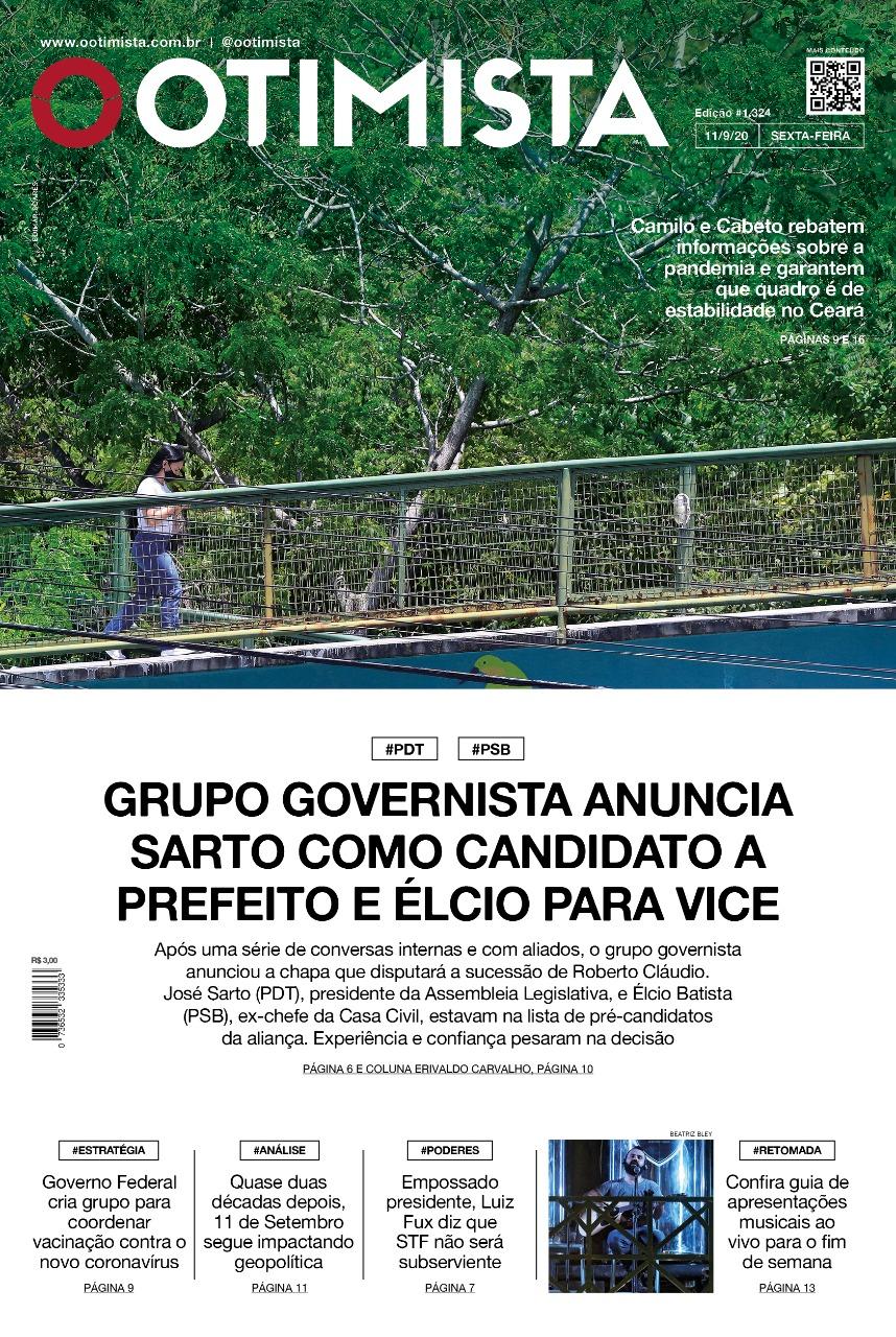 O Otimista - Edição impressa de 11/09/2020