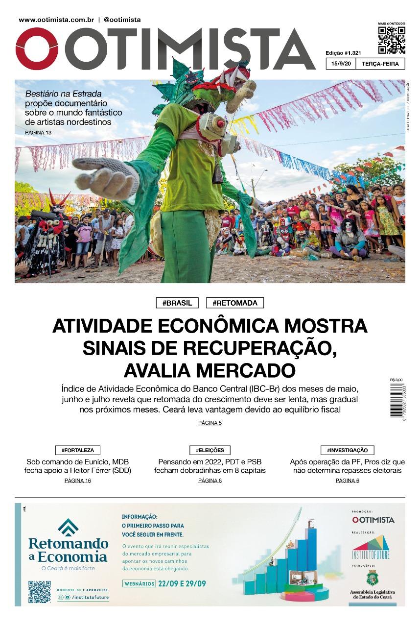 O Otimista - Edição impressa de 15/09/2020